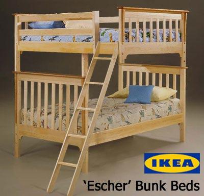 Eschers Bett bei Ikea