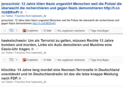 Screenshot: Rechter Terror