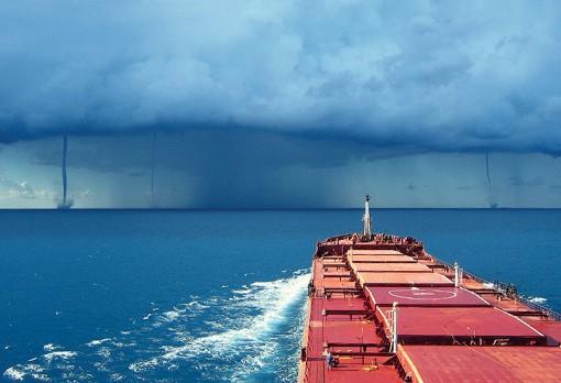 Tornados over the sea